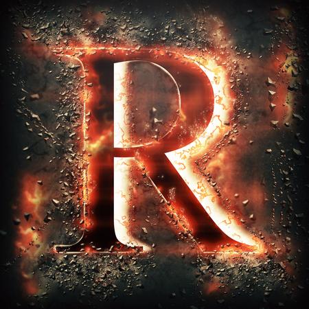 speck: Red light letter R