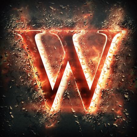 hot stones: Red light letter W