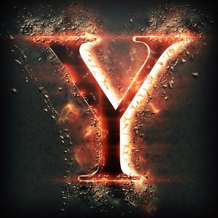 speck: Red light letter Y
