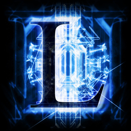 Blue Abstract Letter L