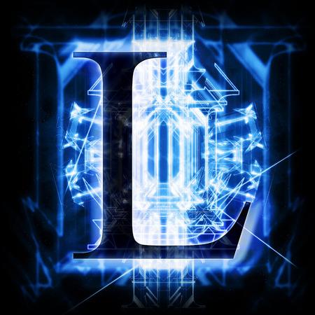 Blue Abstract Letter L Zdjęcie Seryjne - 46040533