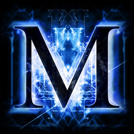 Blue Abstract Letter M