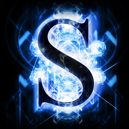 Blue Abstract Letter S Stock Photo