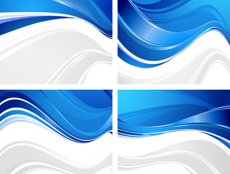 blue lines: Set of wavy abstractions