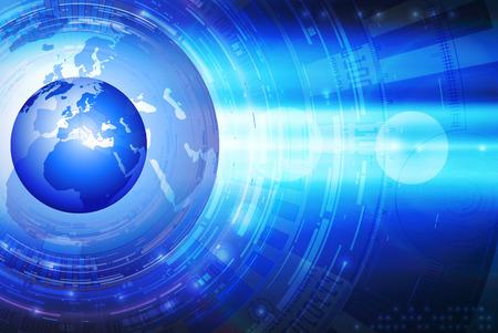 circulos concentricos: Abstracción Tecnología