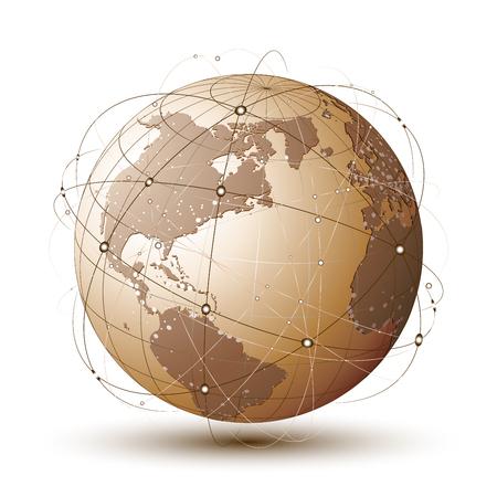 red informatica: Conexiones de concepto sobre el planeta tierra