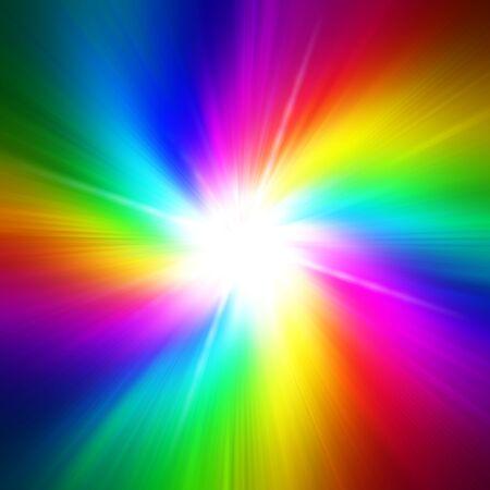 iridescent: Rainbow flash