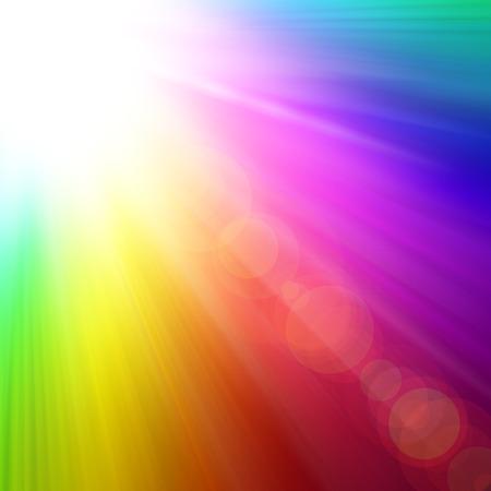 虹スプラッシュ 写真素材