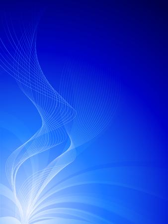blue waves: blue background