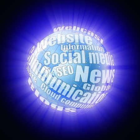webcast: Internet globe