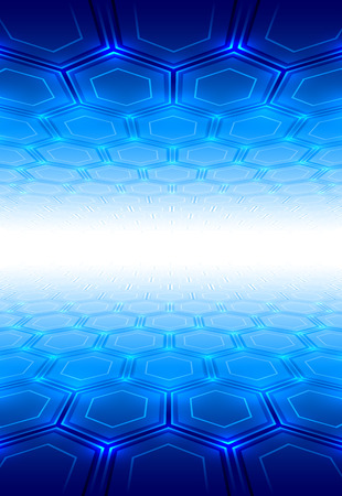 fondos azules: Abstracción con perspectiva