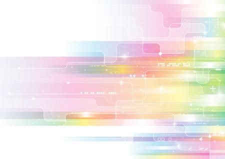 Colorful modern composition  イラスト・ベクター素材