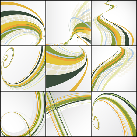 abstract pattern: set of abstract lines Illustration
