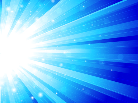bright light: Blue rays Illustration