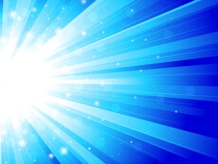 beam of light: Blue rays Illustration