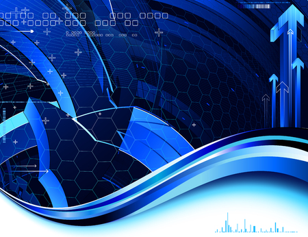 tech background: complex tech background