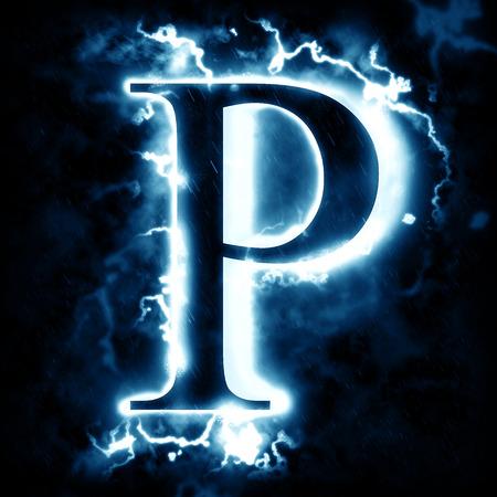 Lightning letter P
