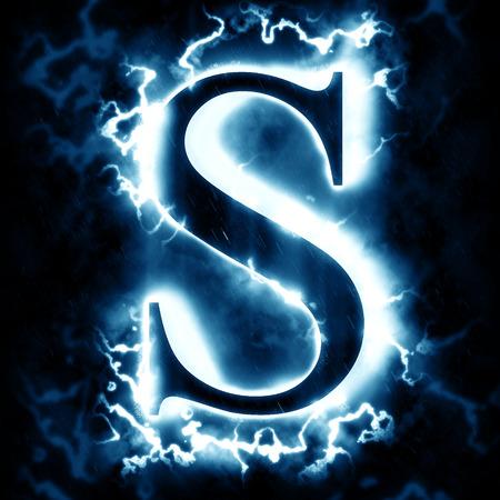 Lightning letter S