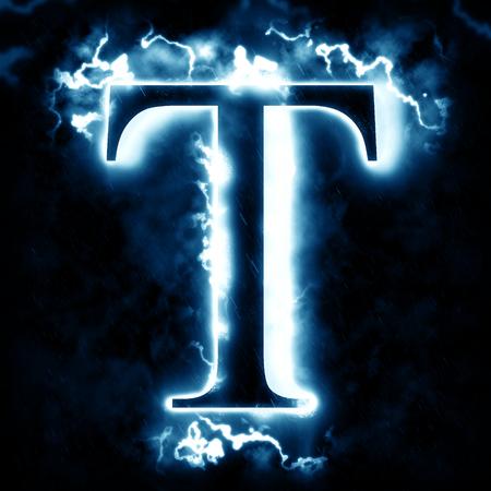 Lightning letter T
