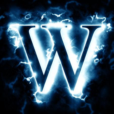 Blitz Buchstaben W Standard-Bild - 46712286