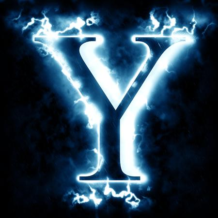 Letter Y Lightning Stockfoto - 46712288