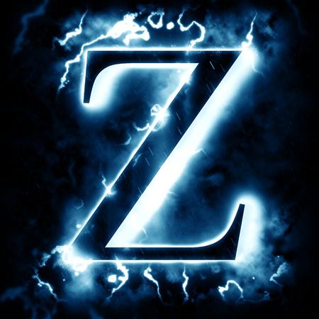 black light: Lightning letter Z