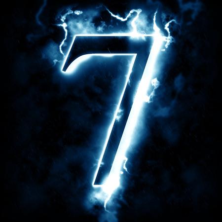 Lightning digit 7