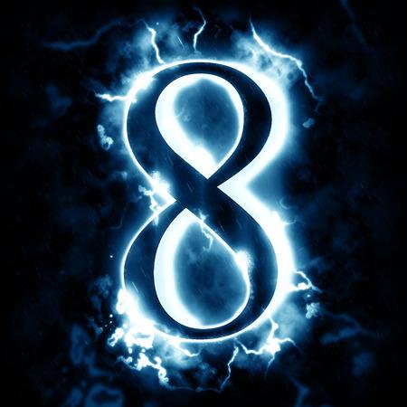 digit 8: Lightning digit 8