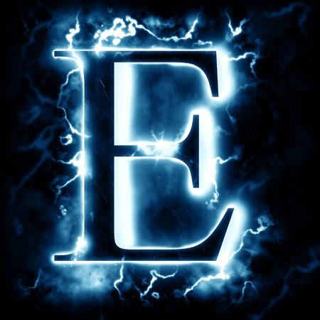 rayo electrico: Rayo letra E