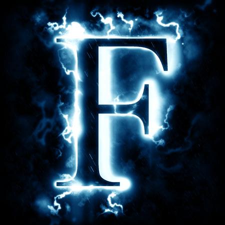 letter Lightning F Stockfoto
