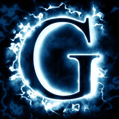 Lightning letter G