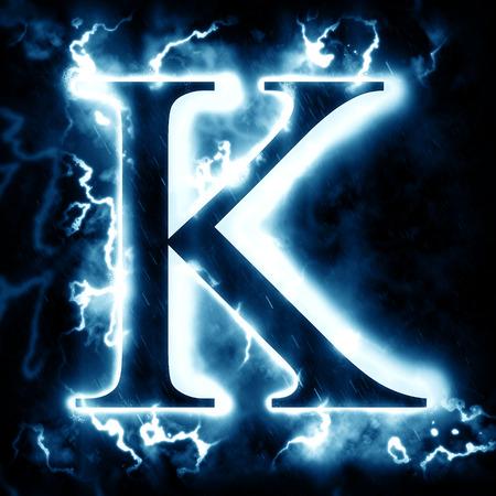 Lightning letter K