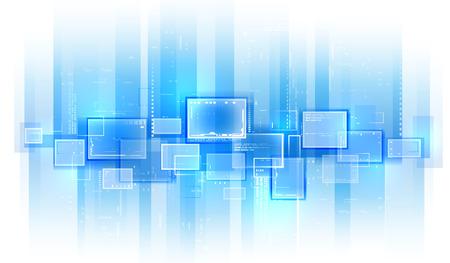 Blue tech background Illustration