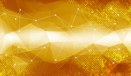 Gold geometrischen Hintergrund Standard-Bild - 46712556