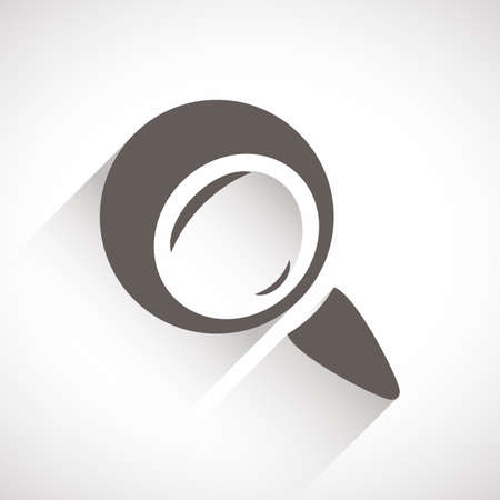 magnifying glass icon: Magnifying glass icon Illustration