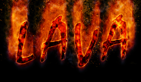 lava: Burning word lava