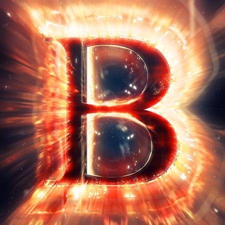 speck: Red light letter B