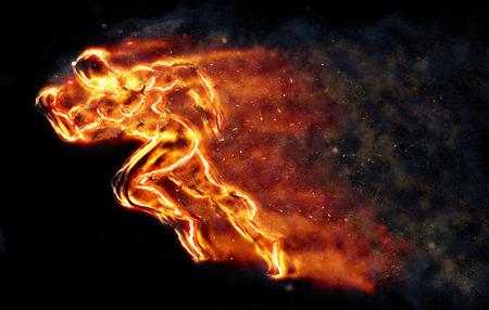 Burning athlete 写真素材