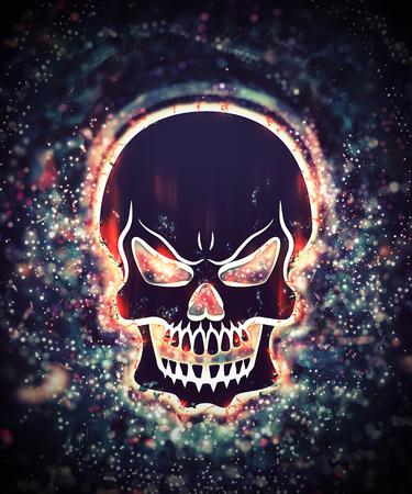 splinter: Colorful skull