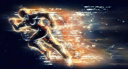 hombre deportista: Atleta corriendo