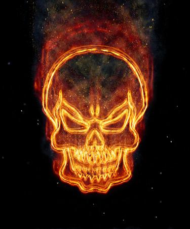 burning: Burning skull