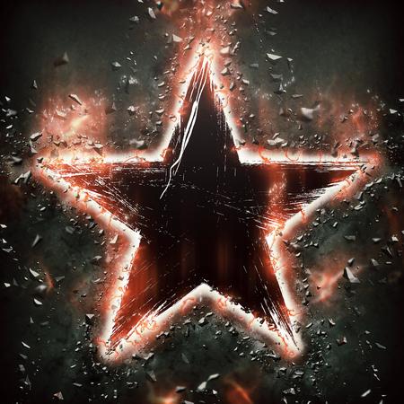 splinters: Star with splinters