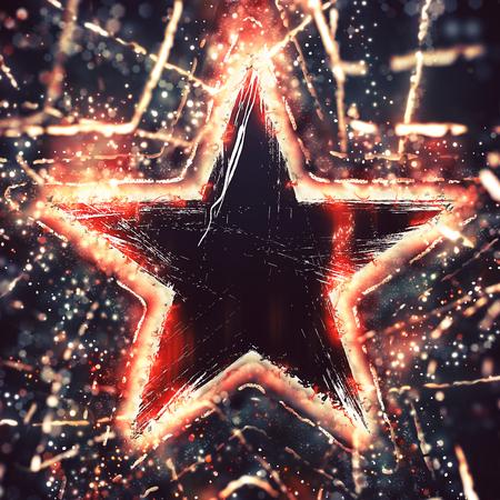 shining star: Shining star Stock Photo