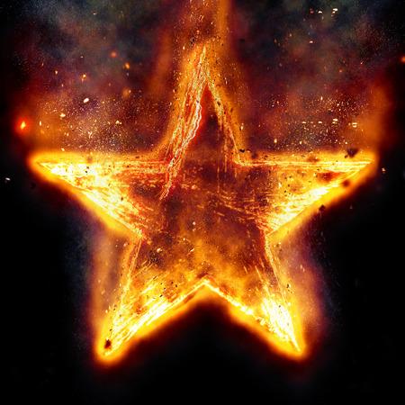 Brandende ster Stockfoto - 56046587