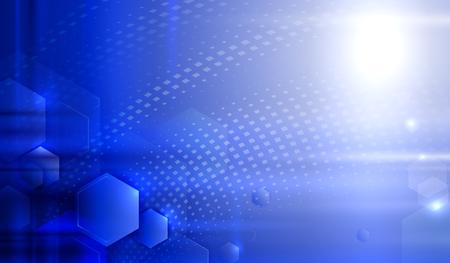 abstrakcja: Blue poboru Ilustracja