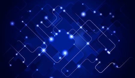 dark blue: Abstract circuit Illustration