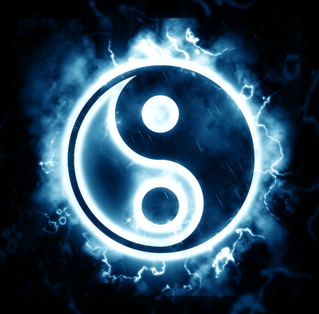 Lightning yin-yang sign