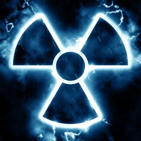 radiation hazard sign: Lightning radiation hazard sign