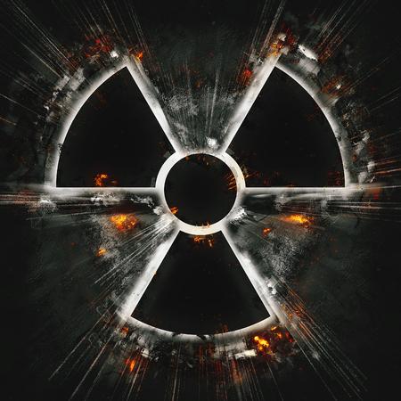 radiacion: quema de se�al de peligro de radiaci�n
