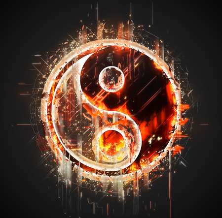 Abstract yin-yang sign